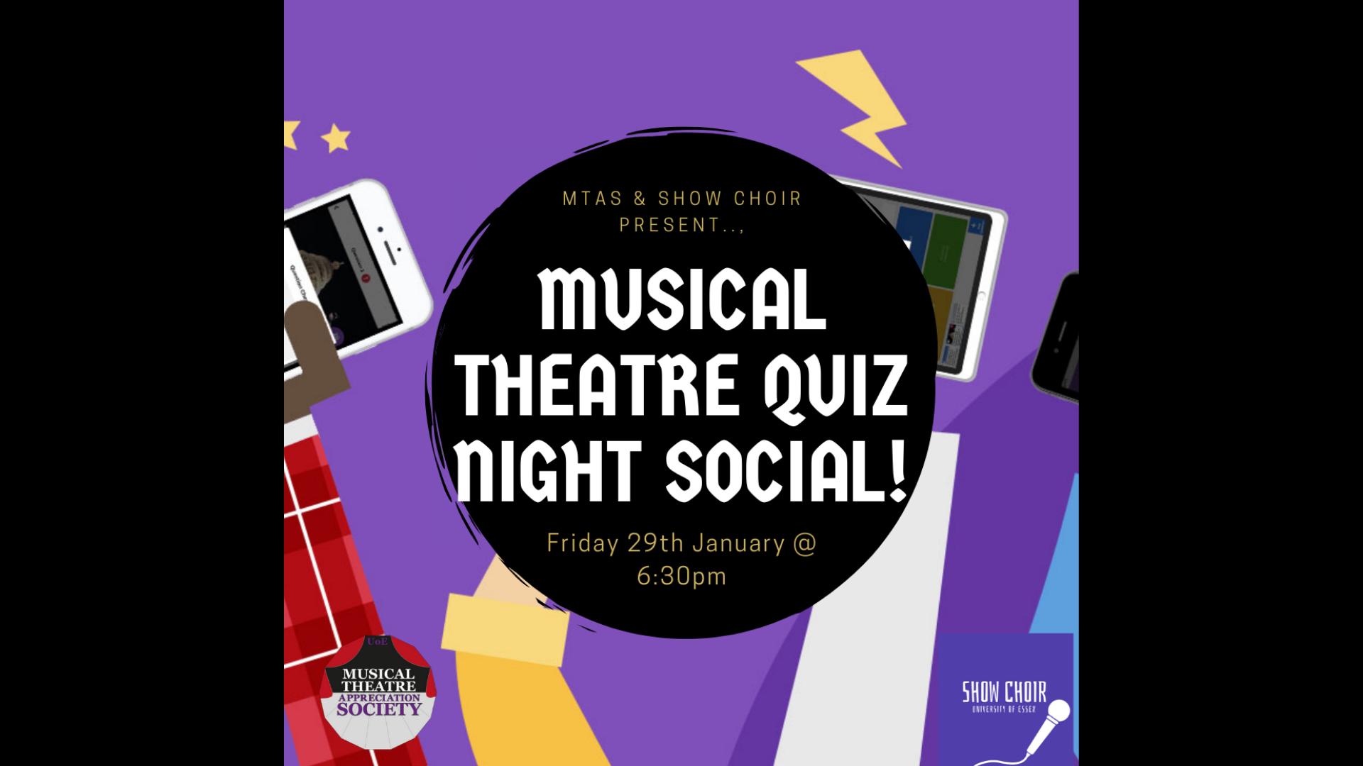 Musical Theatre Quiz Night Social (MTAS and Show Choir Collab)