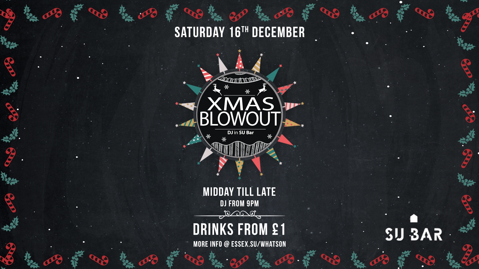 Xmas Blow Out - DRINKS FROM £1 ALL DAY LONG